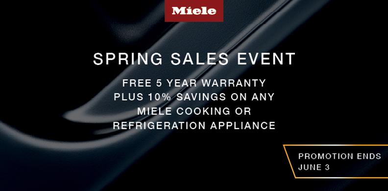 MIELE SPRING SALES EVENT